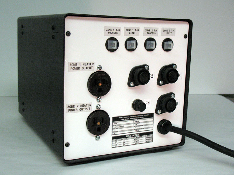 Portable control system for curing epoxy.